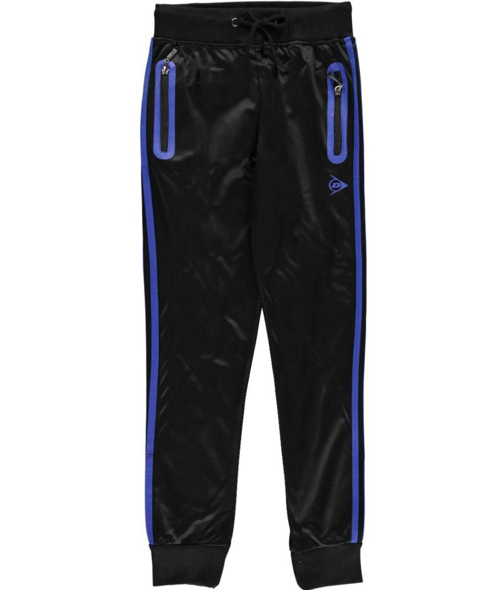 Image of Dunlop Big Boys Double Stripe Joggers Sizes 8  20  royal blueblack 1416
