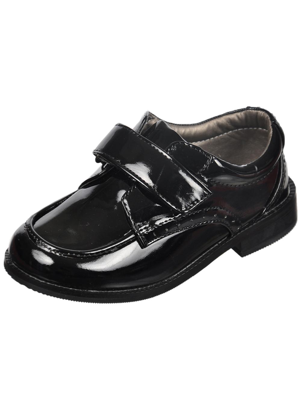 Image of Josmo Oreille Brogue Dress Shoes Toddler Boys Sizes 5  12  black 12 toddler