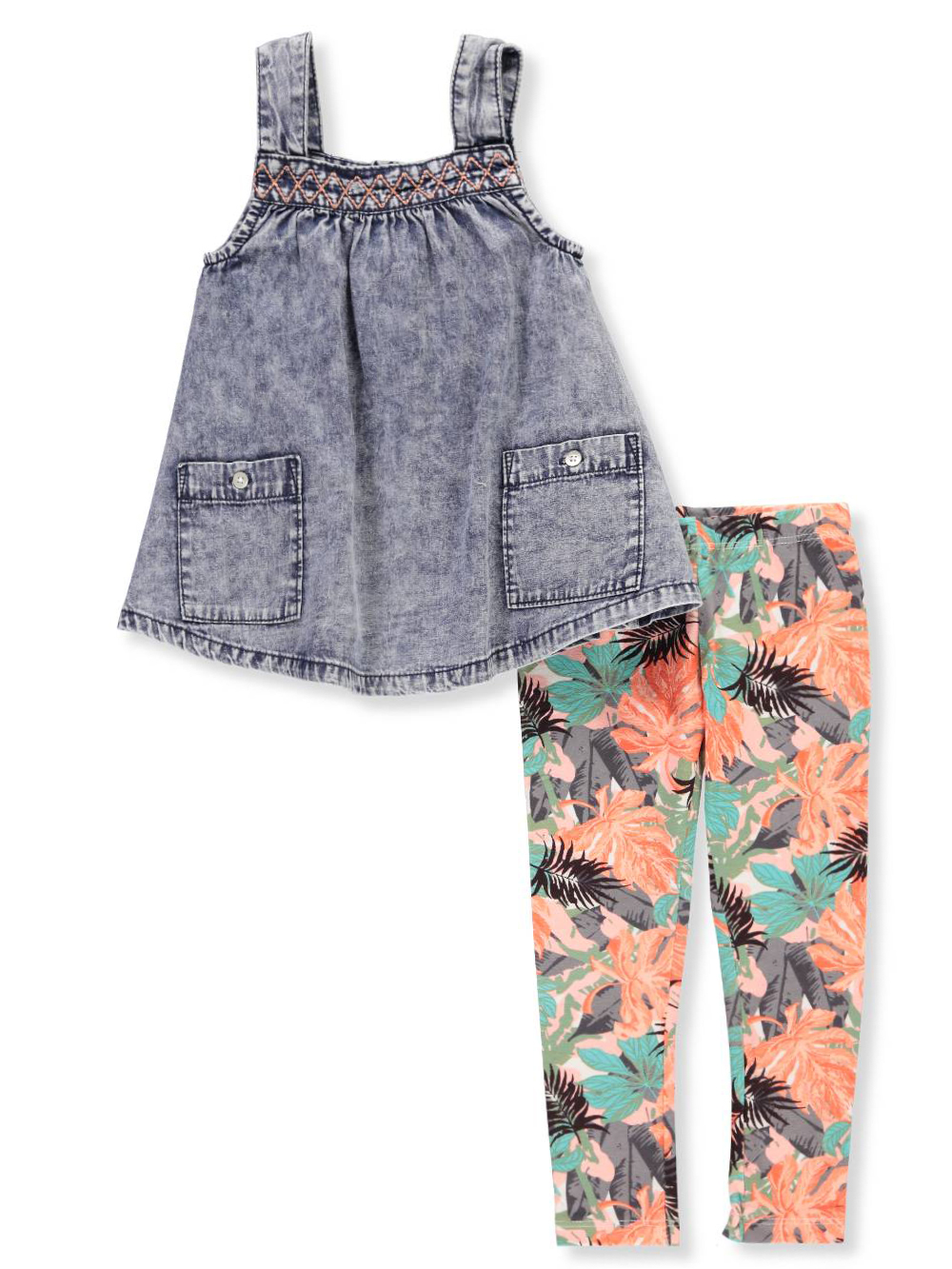 Jessica Simpson Baby Girls 2 Piece Outfit
