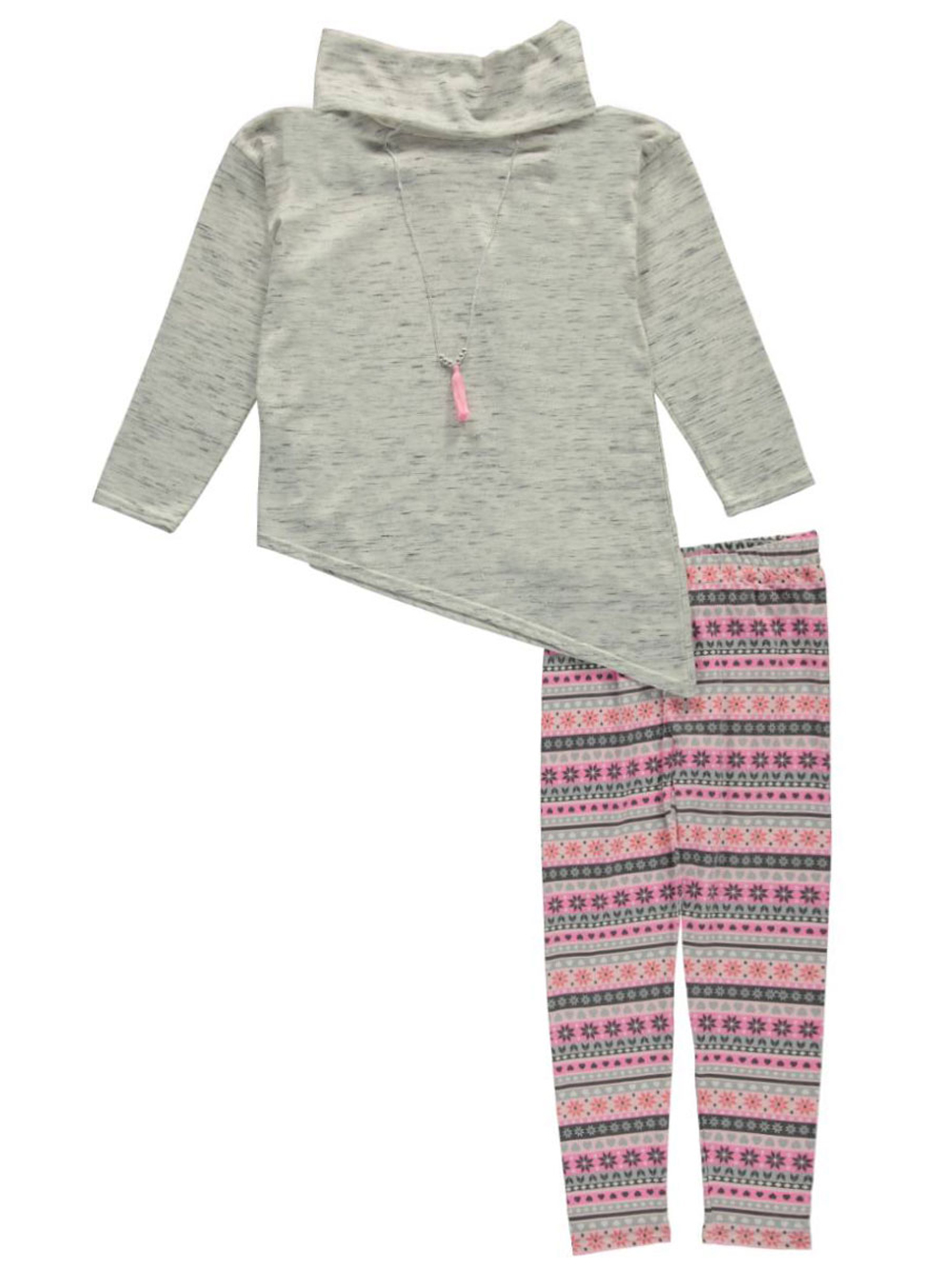 Image of Emily West Big Girls Wry Smile 2Piece Outfit with Necklace Sizes 7  16