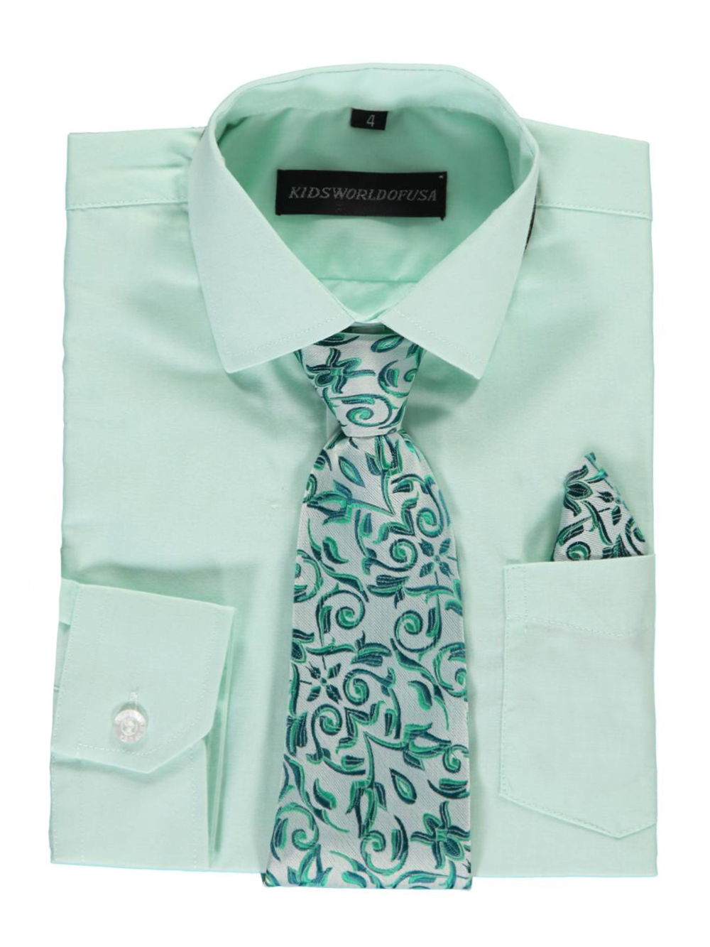 Kids World Little Boys Dress Shirt With Accessories Sizes 4 7