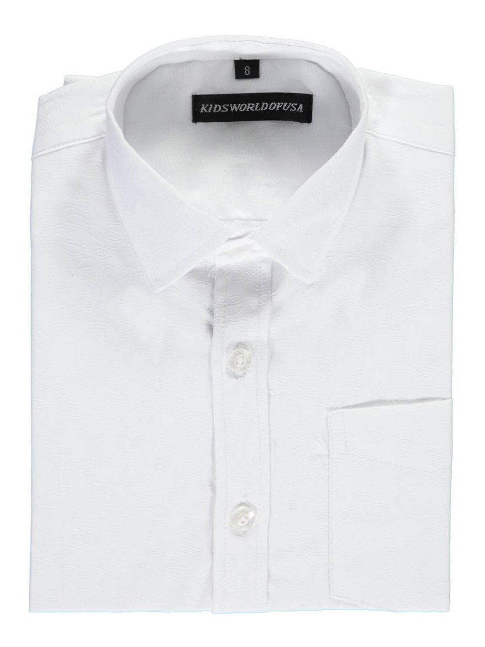 "c569b6282e2e91 Kids World Little Boys  ""Textured Paisley"" Dress Shirt (Sizes 4 – 7)"