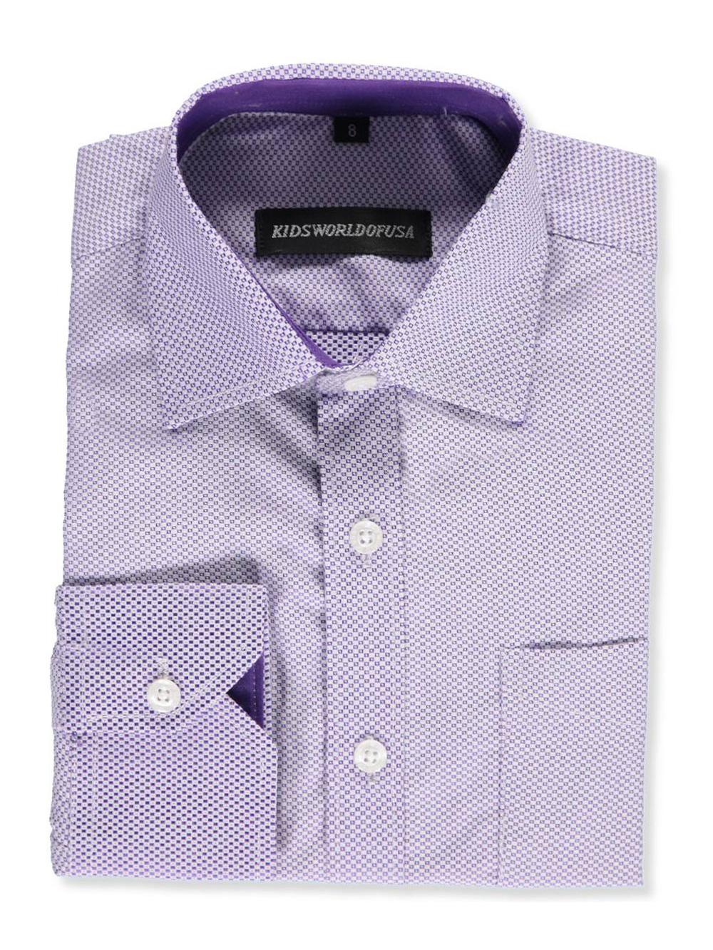 b6e56380c Kids World Big Boys  Dress Shirt (Sizes 8 – 20)