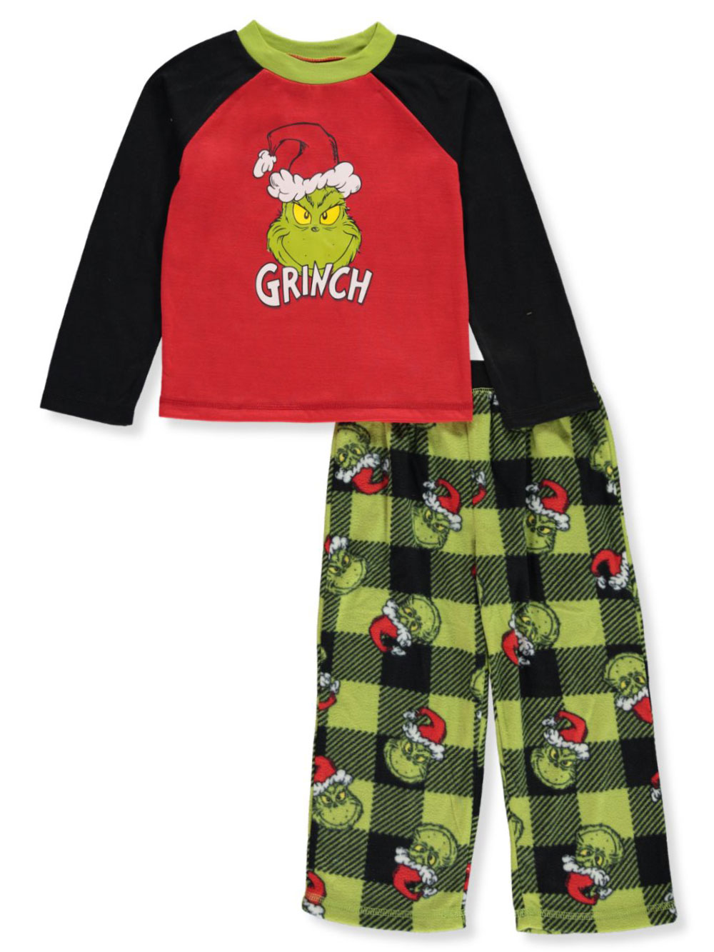 Dr Suesss The Grinch Boys /& Big Boys Fleece Pajama Pants