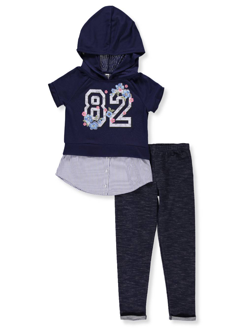 d7575c8444a1a Beautees Girls' 2-Piece Leggings Set Outfit