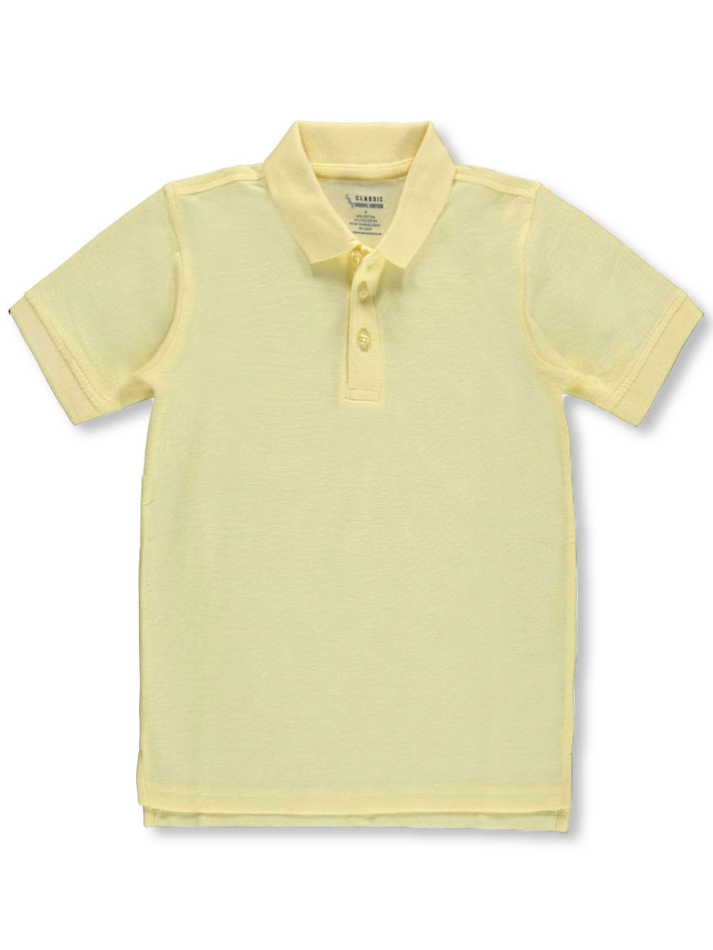 Classic School Uniform Pique Polo (Adult Sizes S - XXL) - yellow, m