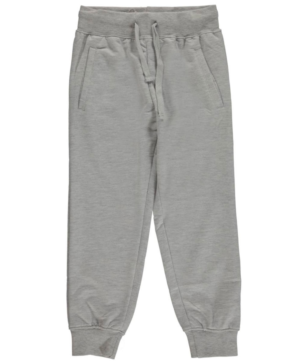 Image of Range Big Boys Classic French Terry Joggers Sizes 8  20  heather gray 14  16