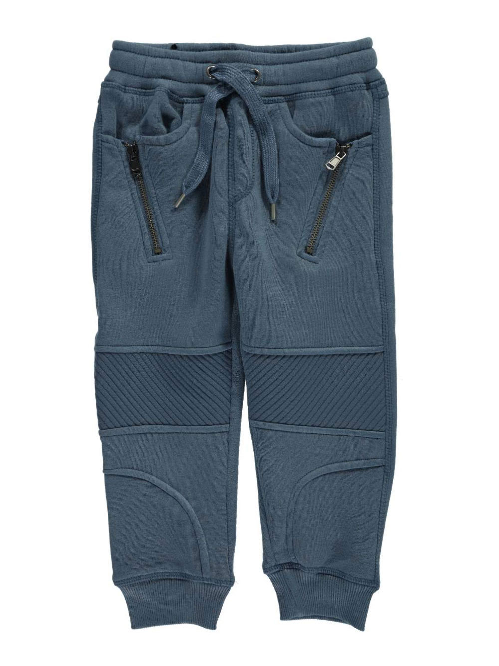 Image of LR Scoop Little Boys Ribbed  Seamed Joggers Sizes 4  6X  navy 4