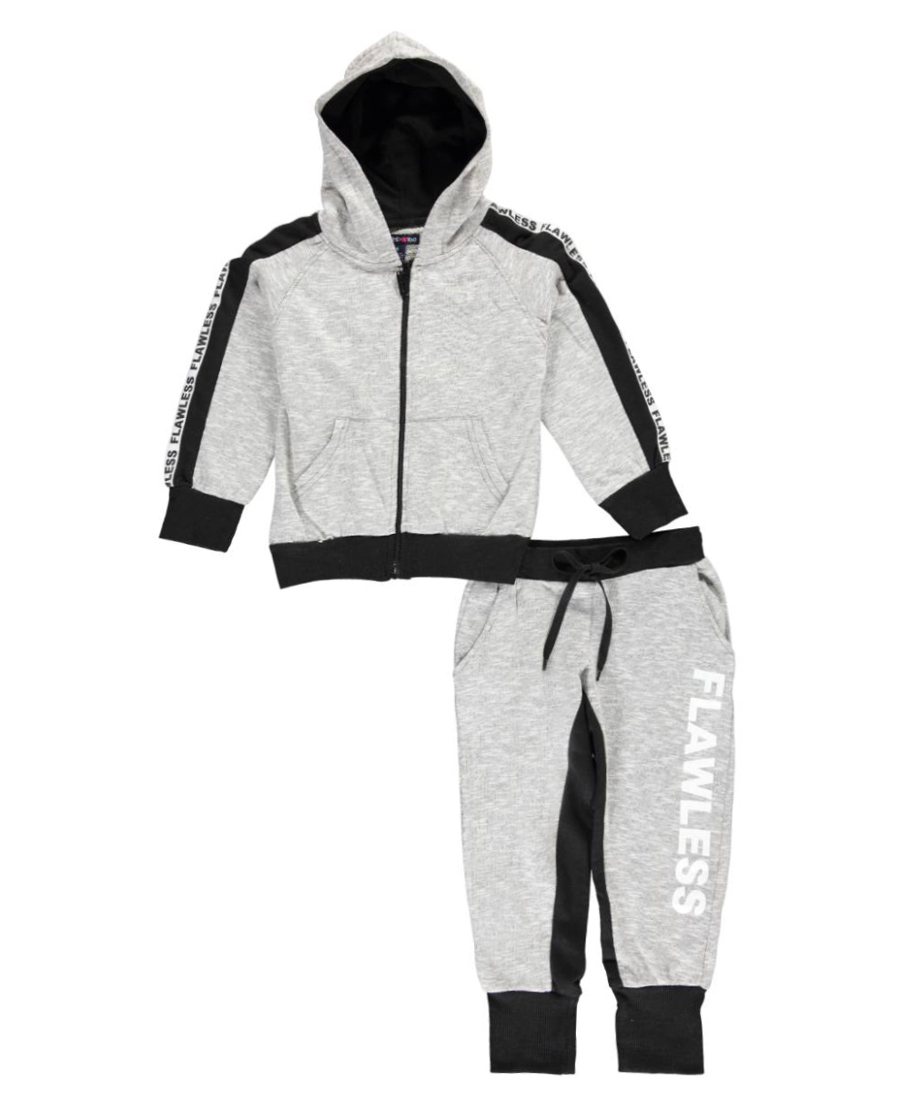 Image of Limited Too Little Girls Flawless 2Piece French Terry Sweatsuit Sizes 4  6X  gray 4