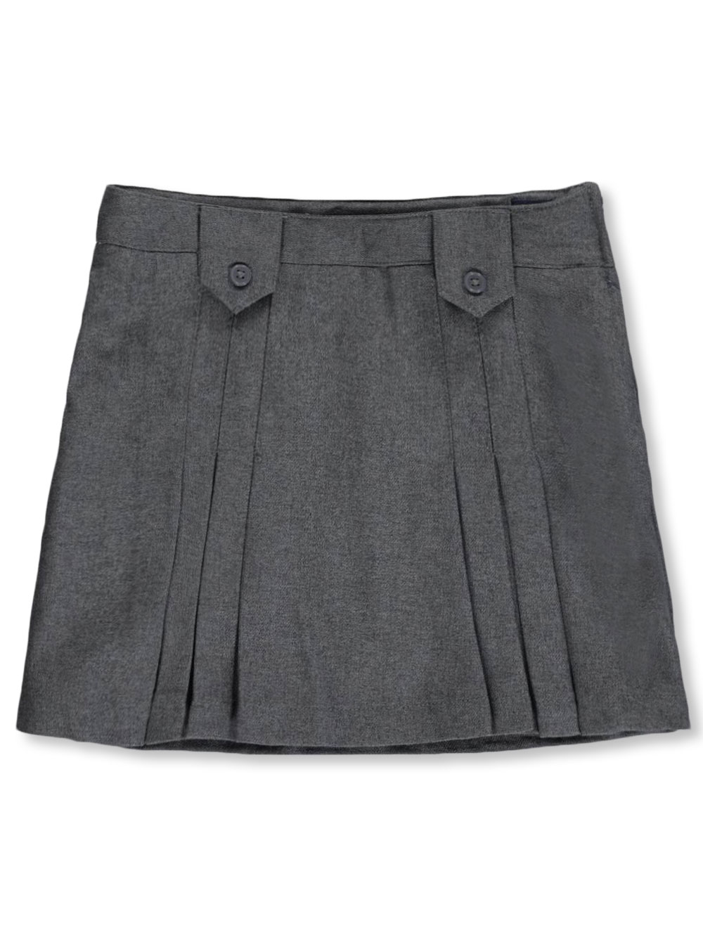 French Toast School Uniform Little Girls' Pleat and Tab Skirt (Sizes 4 - 6X) - gray, 6