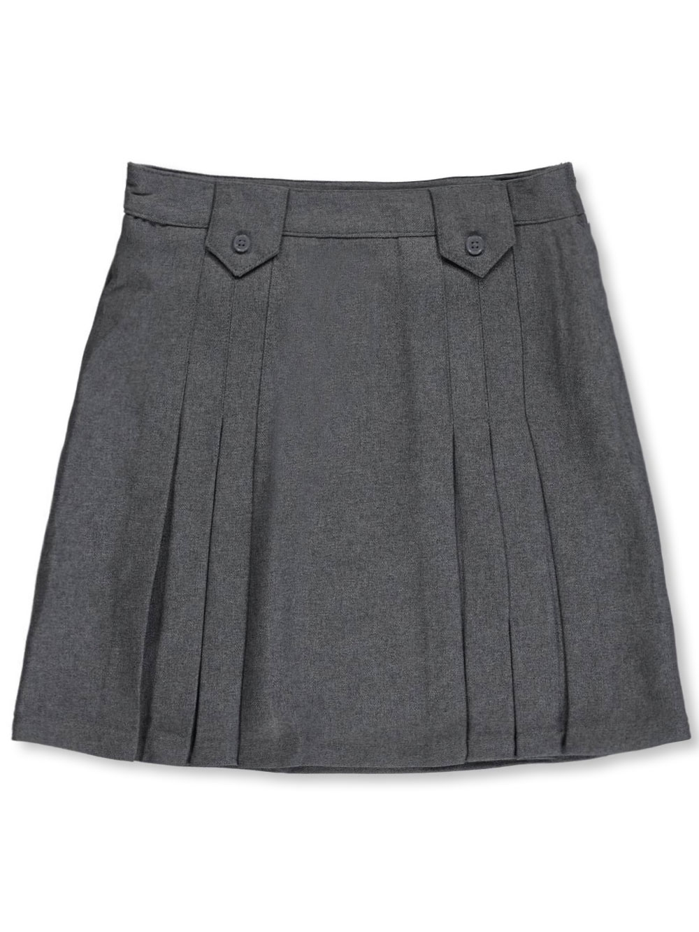Image of French Toast School Uniform Big Girls Pleat and Tab Skirt Sizes 7  20  gray 20