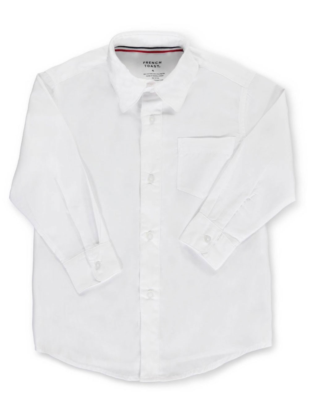 Image of French Toast Little Boys LS ButtonDown Shirt Sizes 4  7  white 7