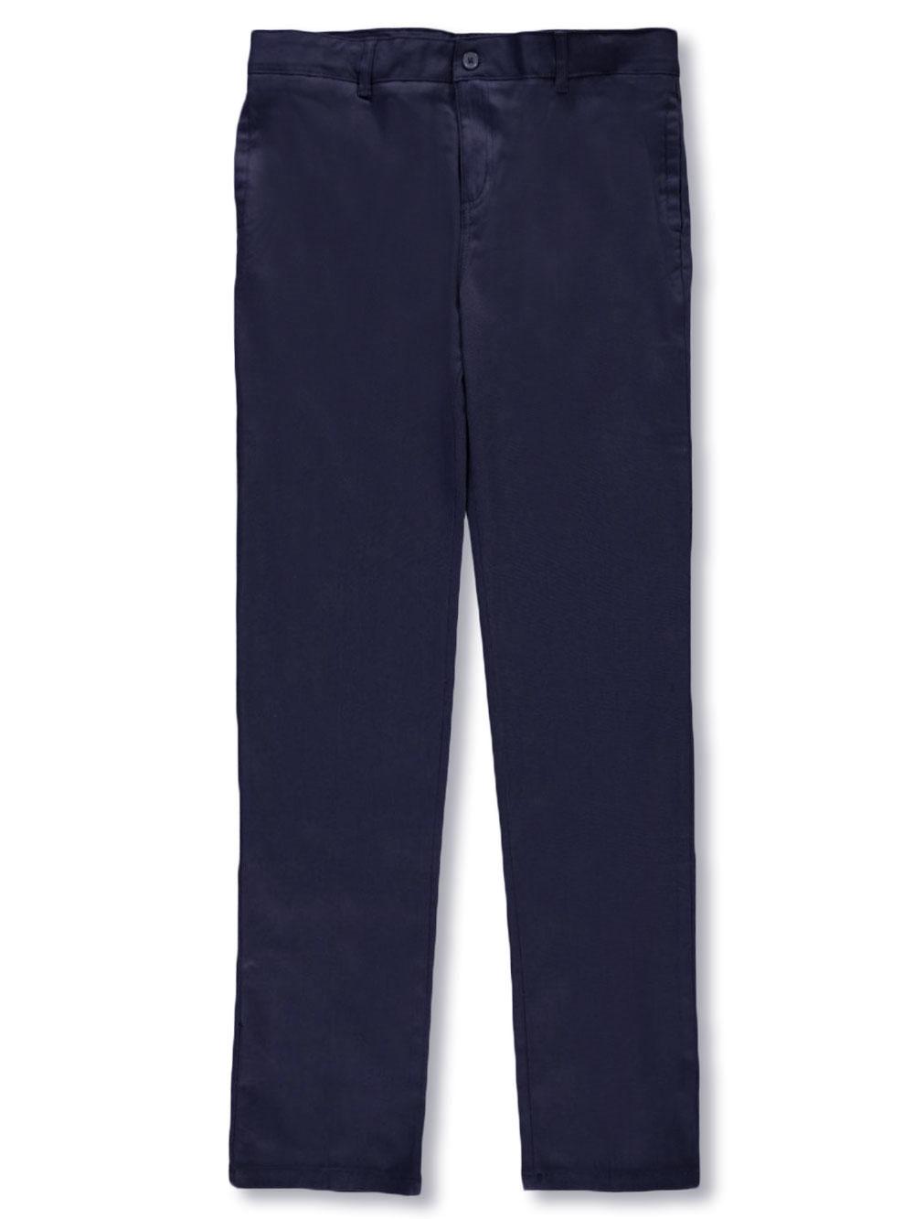 Girls Strudy Fit School Wear Uniform Trouser Boy Stretchy Half Elasticated Pants