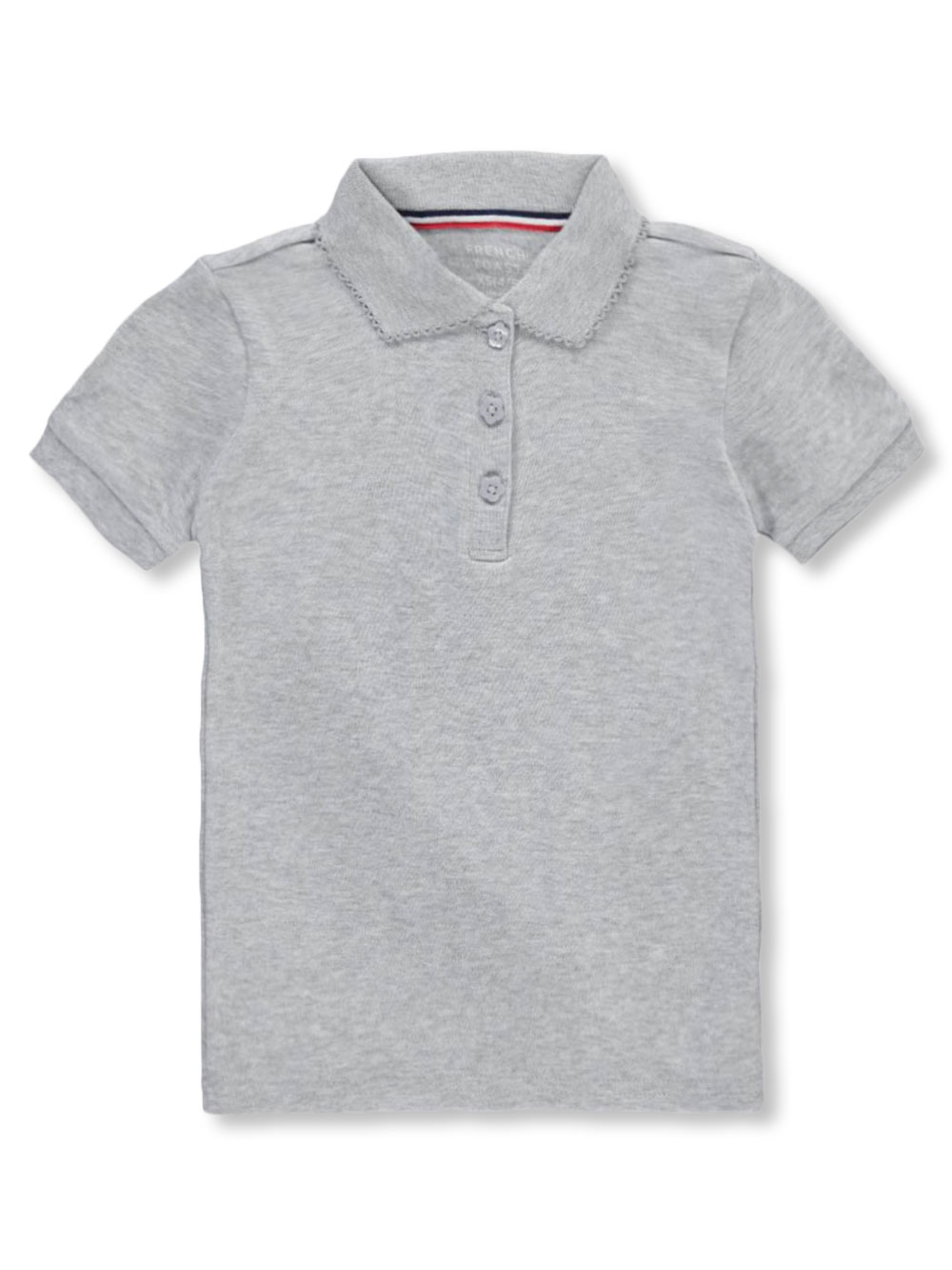76eee557 French Toast Girls' S/S Fitted Knit Polo with Picot Collar