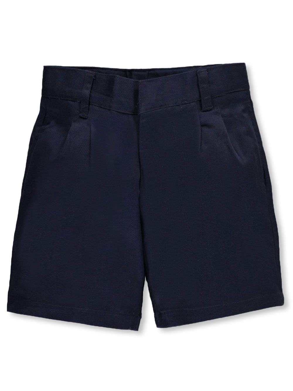 Image of French Toast Pleated Front Unisex Twill Short with Adjustable Waist Sizes 8  20  navy 14