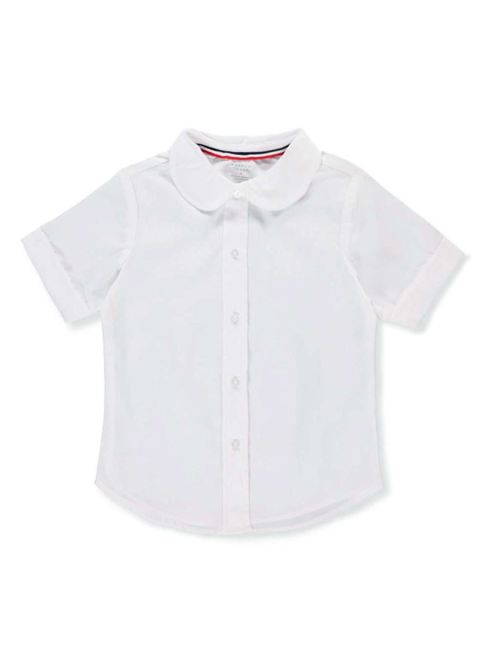 Image of French Toast School Uniform SS Peter Pan Fitted Shirt Sizes 4  6X  white 4