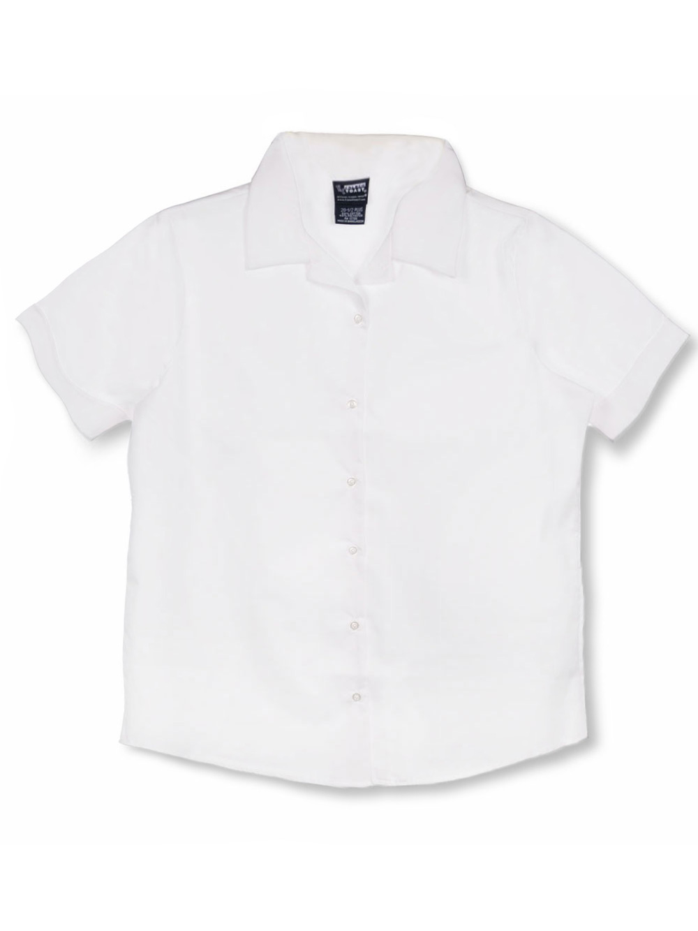 French Toast School Uniform S/S Notched Collar Blouse (Sizes 16C - 20C) - white, 18.5