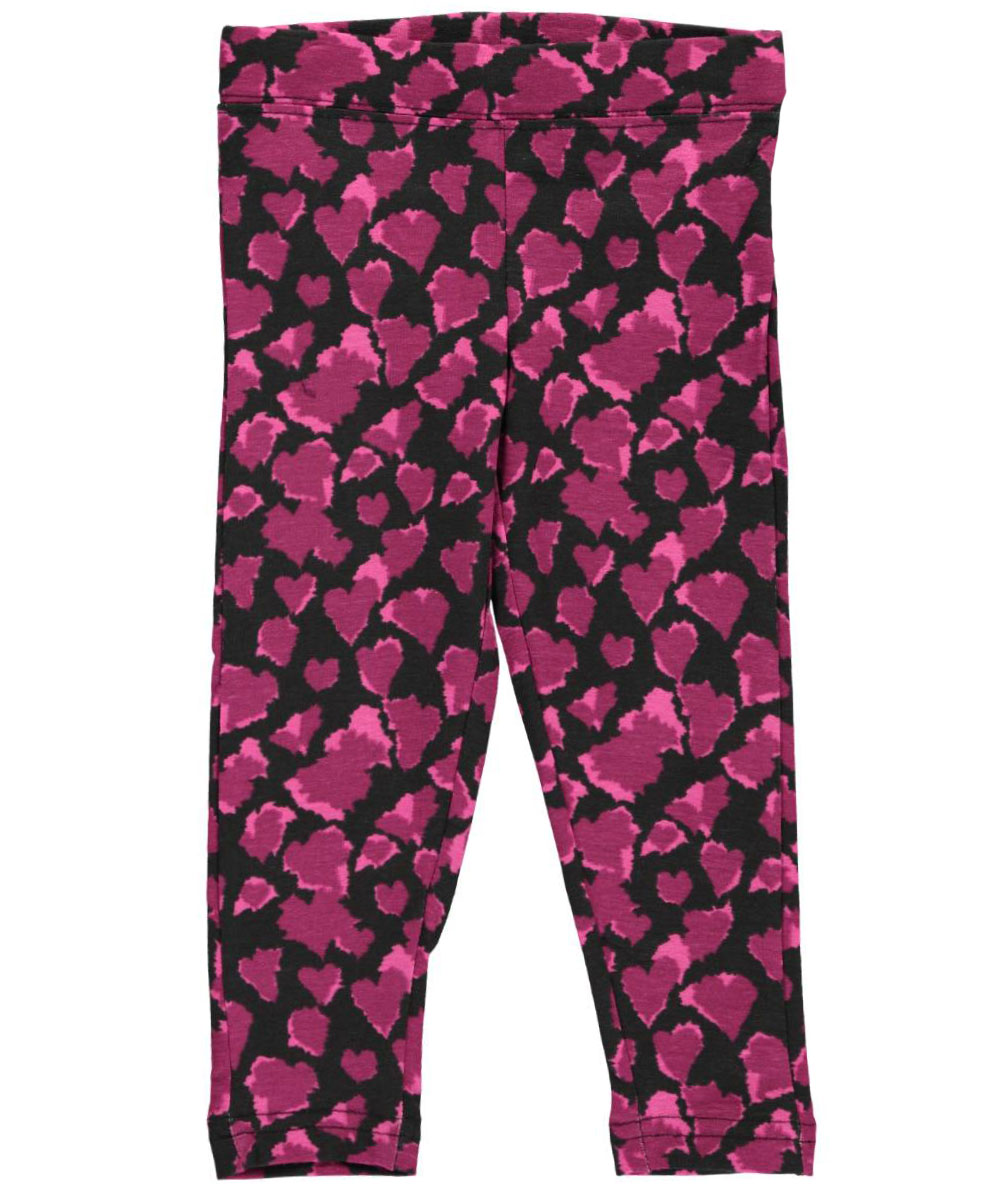 Image of French Toast Baby Girls Stretch Style Leggings  blackpurple 24 months