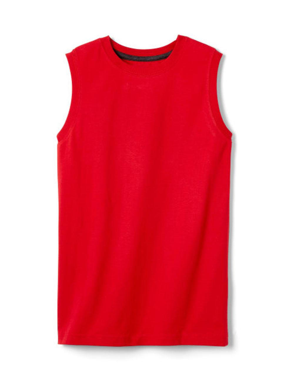 Image of French Toast Little Boys Sleeveless TShirt Sizes 4  7  red 7