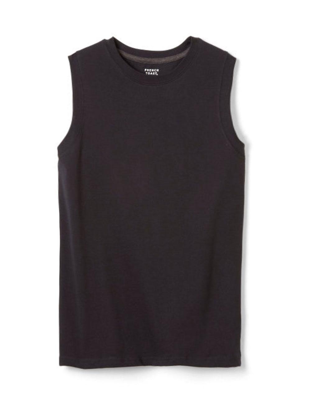 Image of French Toast Big Boys Sleeveless TShirt Sizes 8  20  black 1012