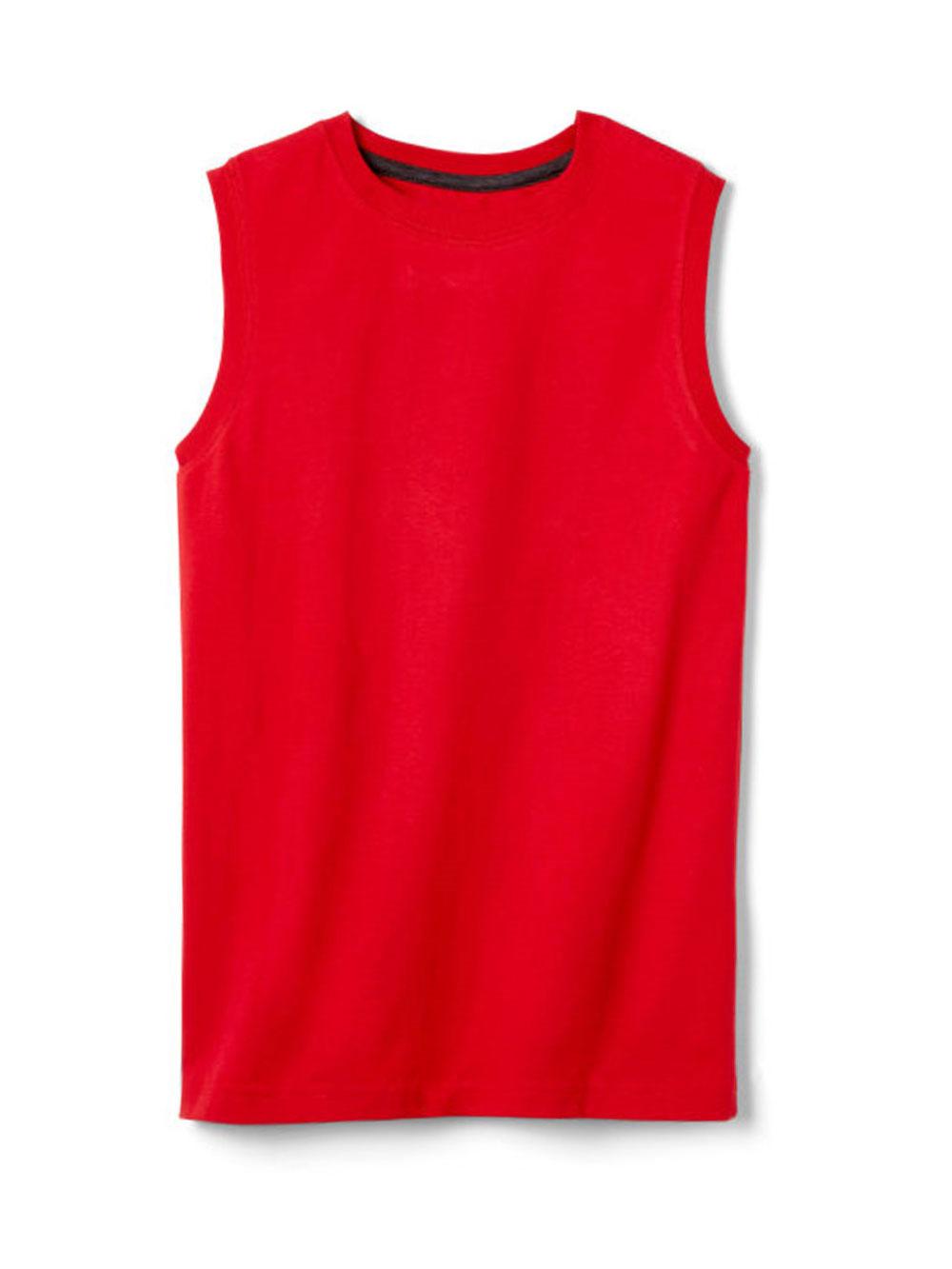 Image of French Toast Big Boys Sleeveless TShirt Sizes 8  20  red 1012