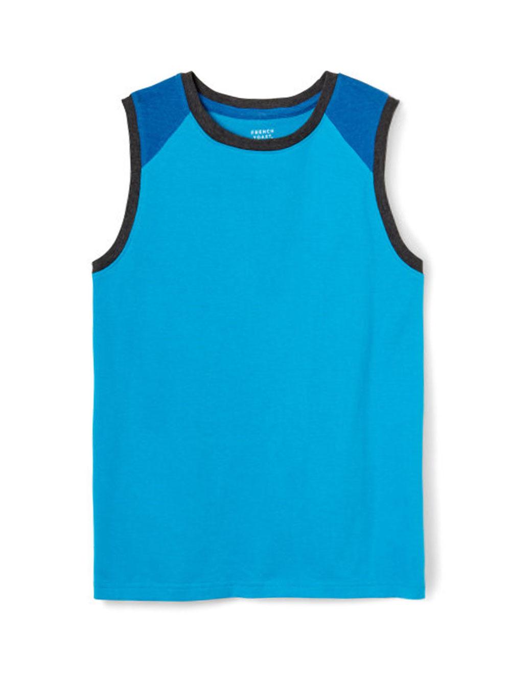 Image of French Toast Big Boys Muscle Sleeveless TShirt Sizes 8  20  turquoise blue 8