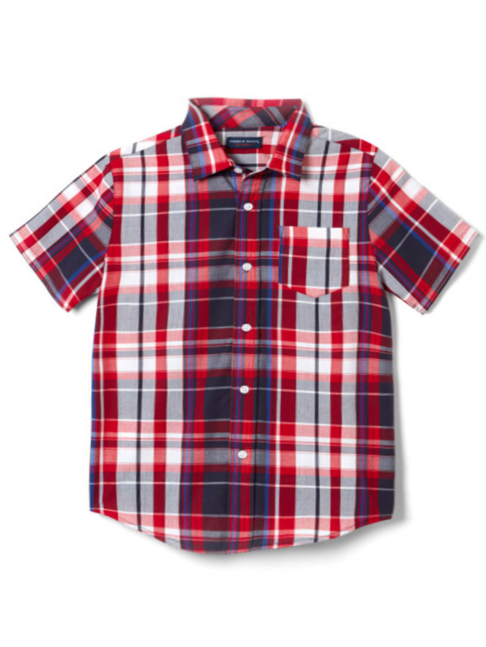 Sizes 2T - 4T French Toast Little Boys/' Toddler S//S Button-Down Shirt