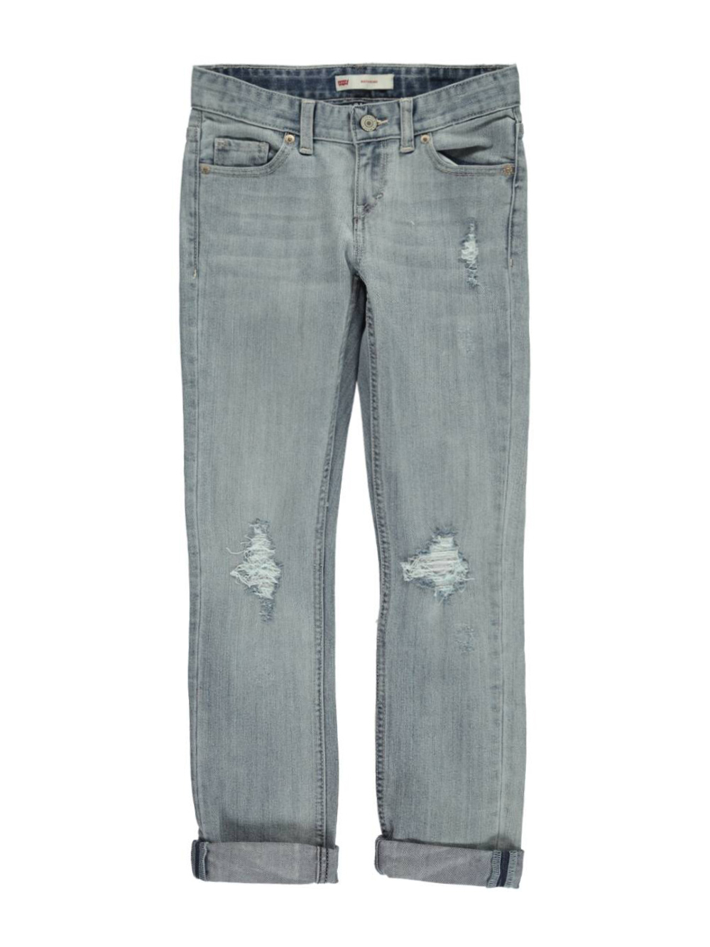 Image of Levis Big Girls Torn  Swooped Boyfriend Jeans Sizes 7  16