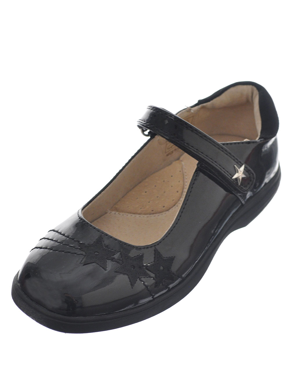 Image of Easy Strider Girls Star Shine Mary Janes Youth Sizes 13  4  black 1 youth