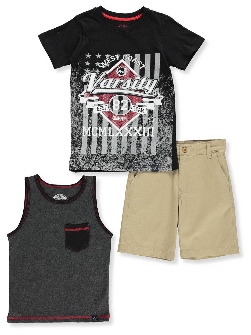 913495bdad4c Street Rules Boys' 3-Piece Shorts Set Outfit