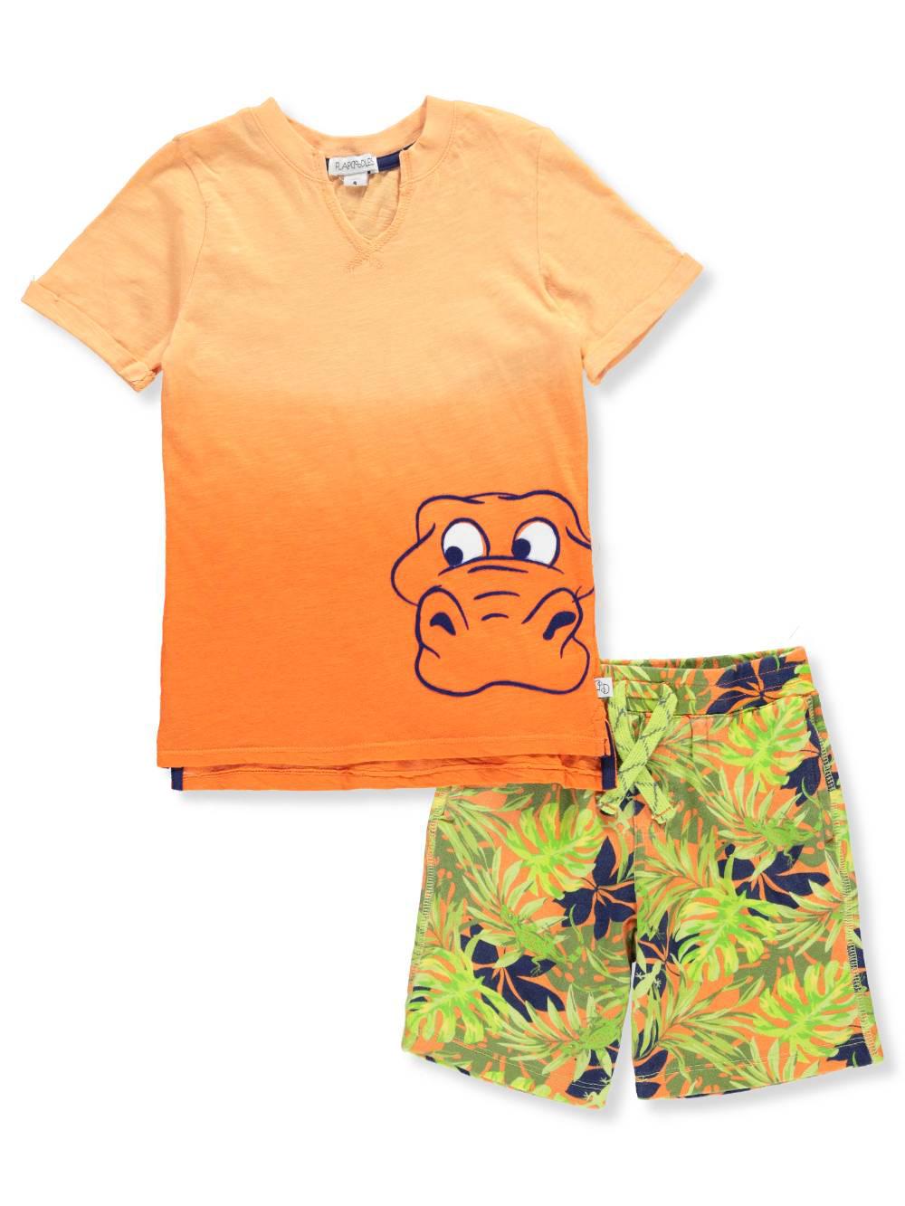 Flapdoodles Boys 2 Piece Short Set Outfit