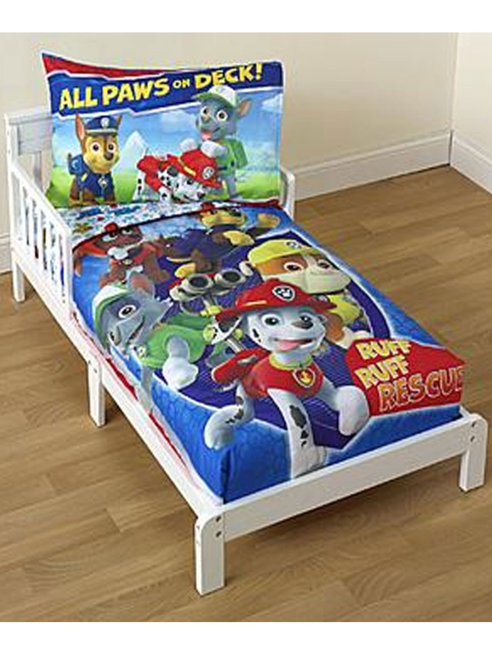 Image of Paw Patrol All Paws on Deck 4Piece Toddler Bedding Set