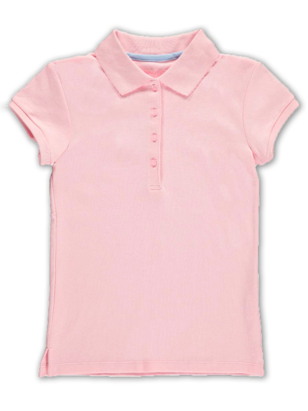 248d5835 Nautica Big Girls' Knit Polo with Picot Collar (Sizes 7 – 16)