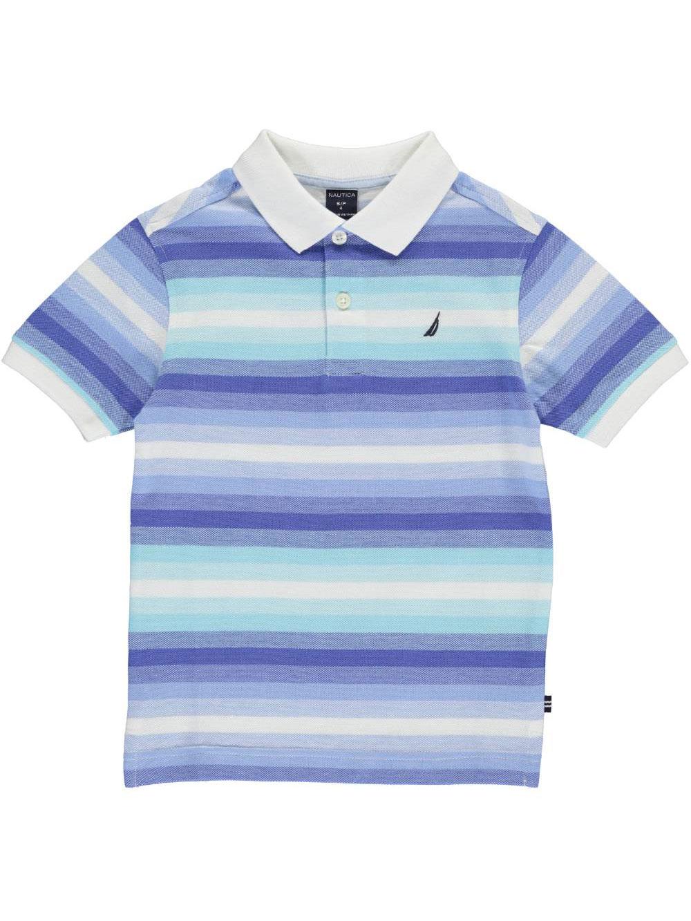 Image of Nautica Little Boys Shallow Seas Pique Polo Sizes 4  7  blue 4