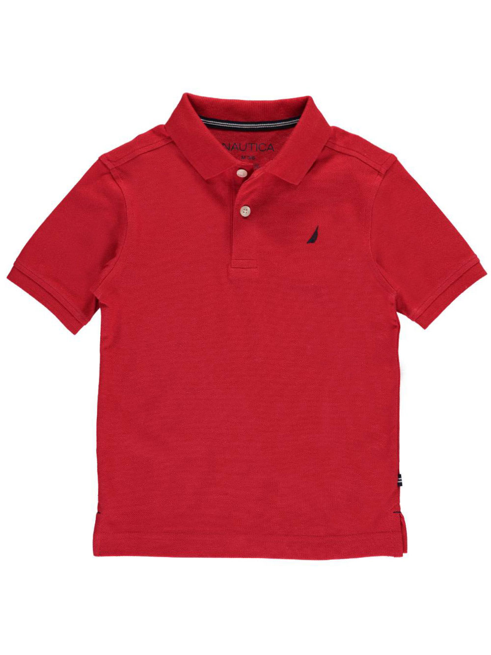 Image of Nautica Little Boys Toddler Solid State Pique Polo Sizes 2T  4T  carmine 4t