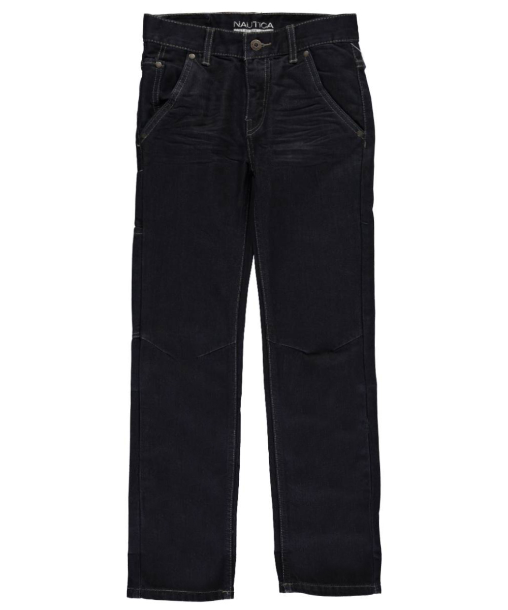 Image of Nautica Big Boys McGuinness Straight Fit Jeans Sizes 8  20  anchorace 12