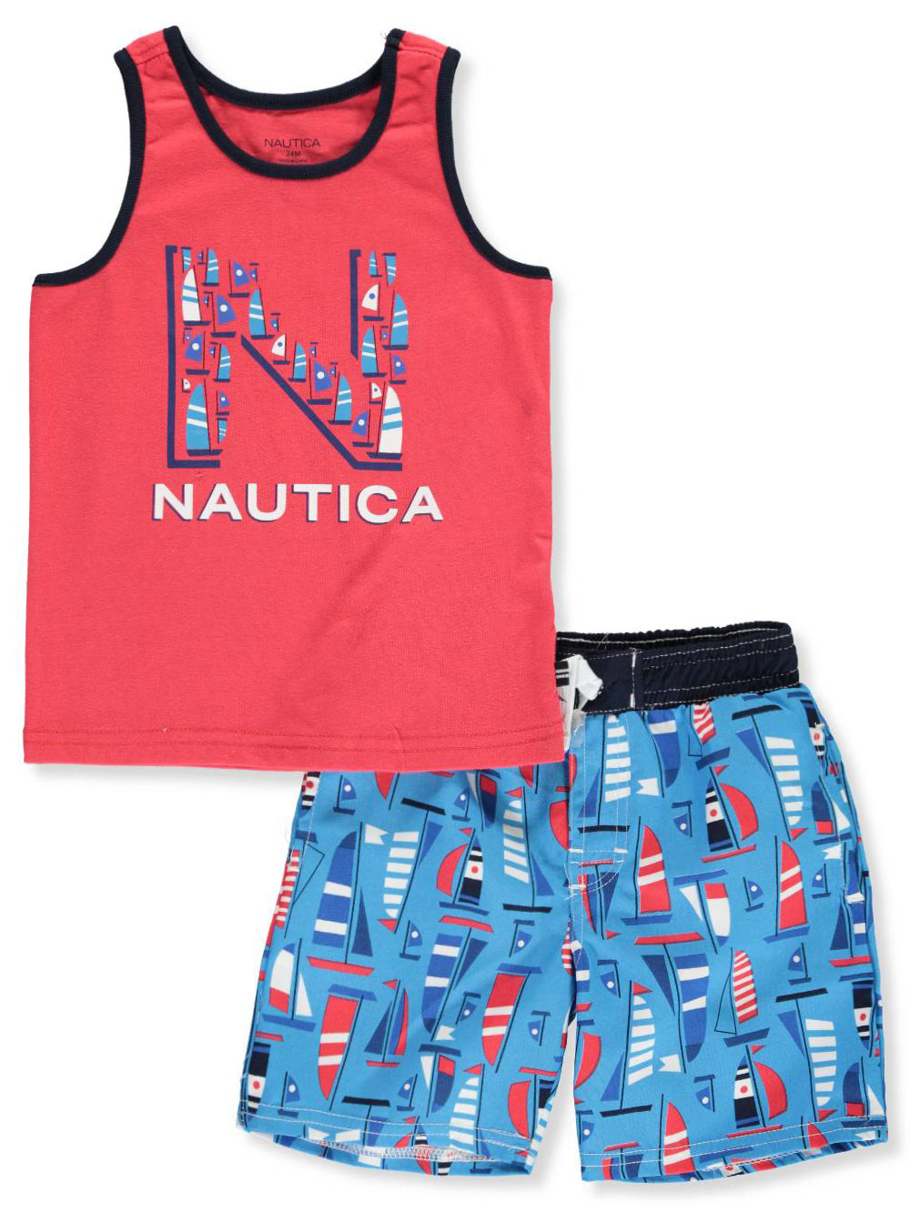 bda5d588a Baby Boys' 2-Piece Swim Set by Nautica in Red/navy from Cookie's Kids