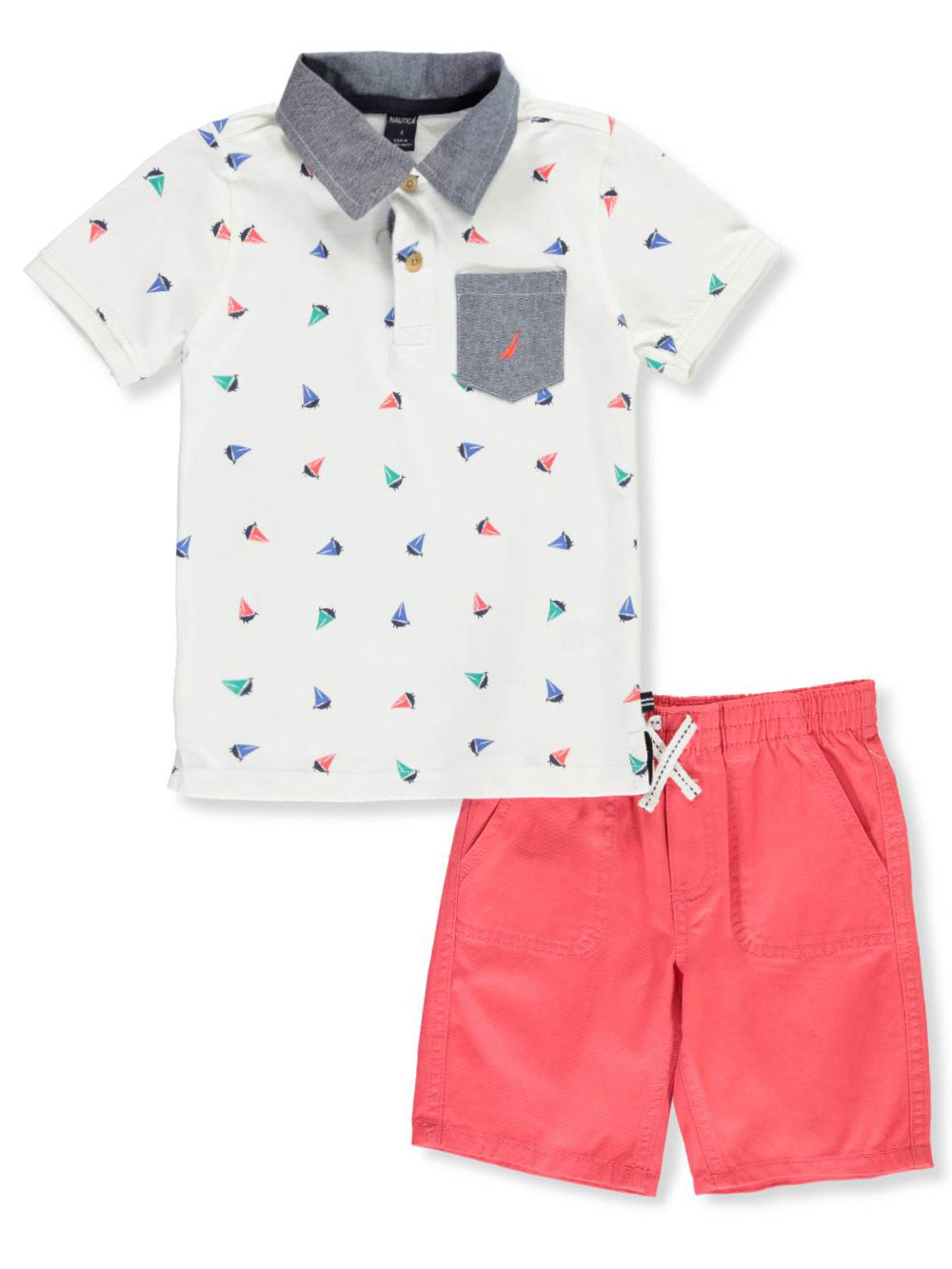 Nautica Childrens Apparel Baby Boys Four Piece Knit Set W// Hat and