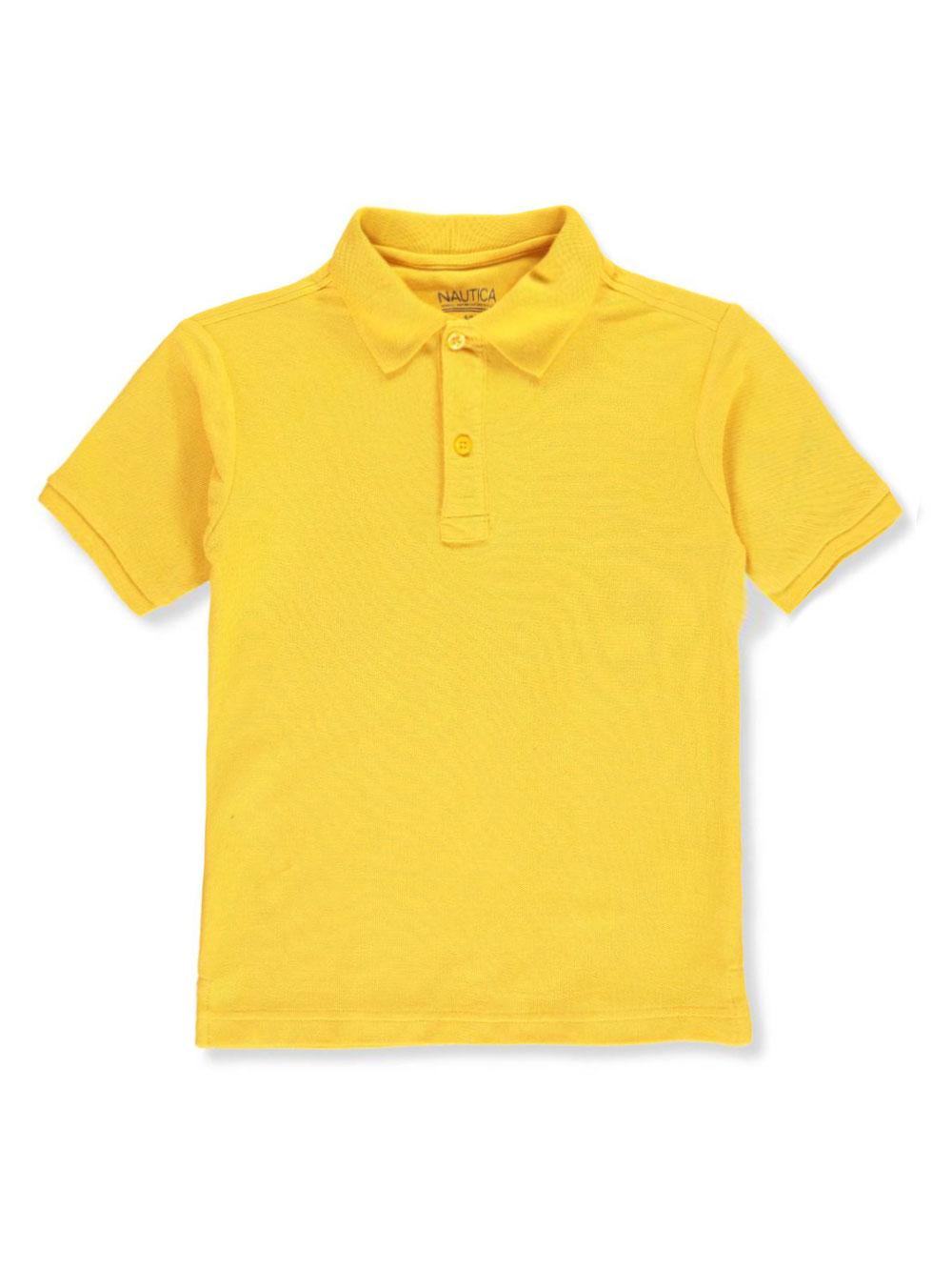 X-Large-18//20 Nautica Boys Husky School Uniform Short Sleeve Performance Polo Light Yellow