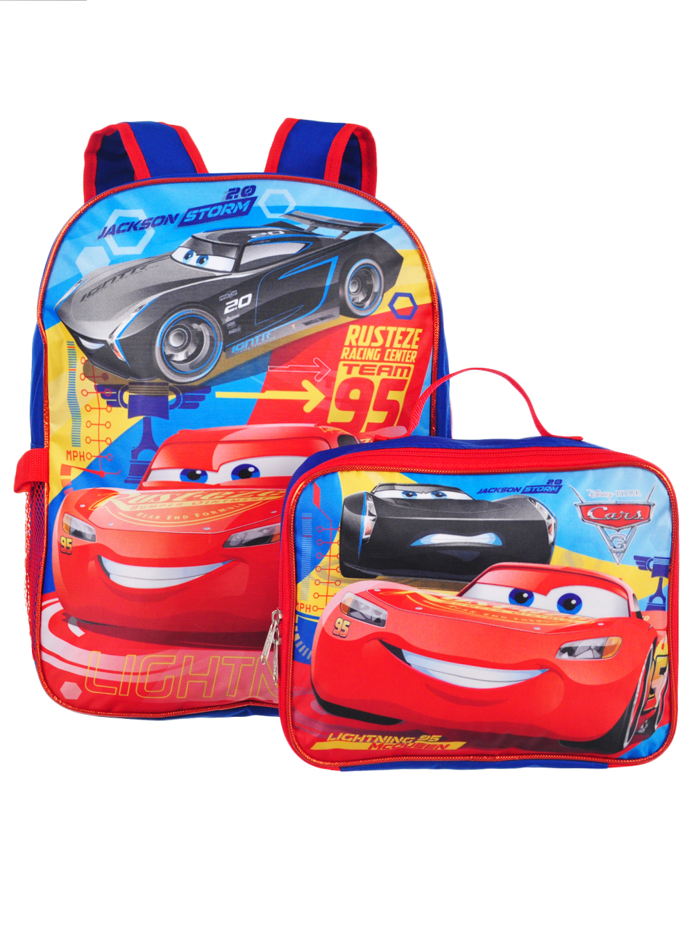 4eae4b70ec3 Disney Cars 3 Backpack with Insulated Lunchbox