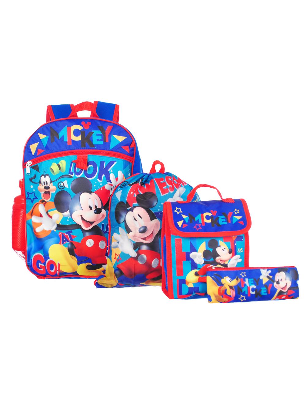 061add25296 Mickey and the Roadster Racers 5-Piece Backpack Set