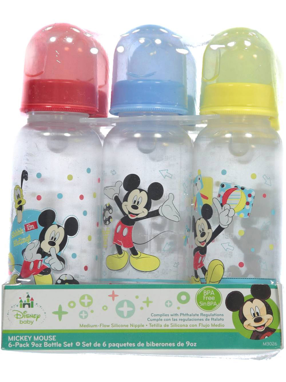 Image of Minnie Mouse 6Pack Bottles  lilac one size