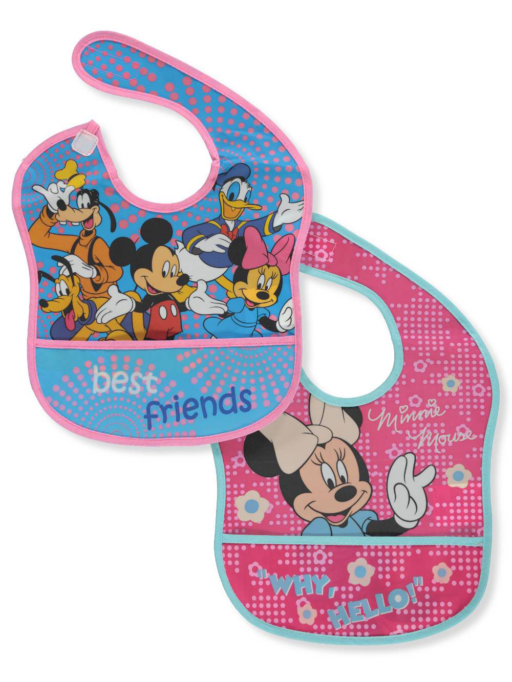 NEW 5 Pack Minnie Mouse Baby Girls Bibs