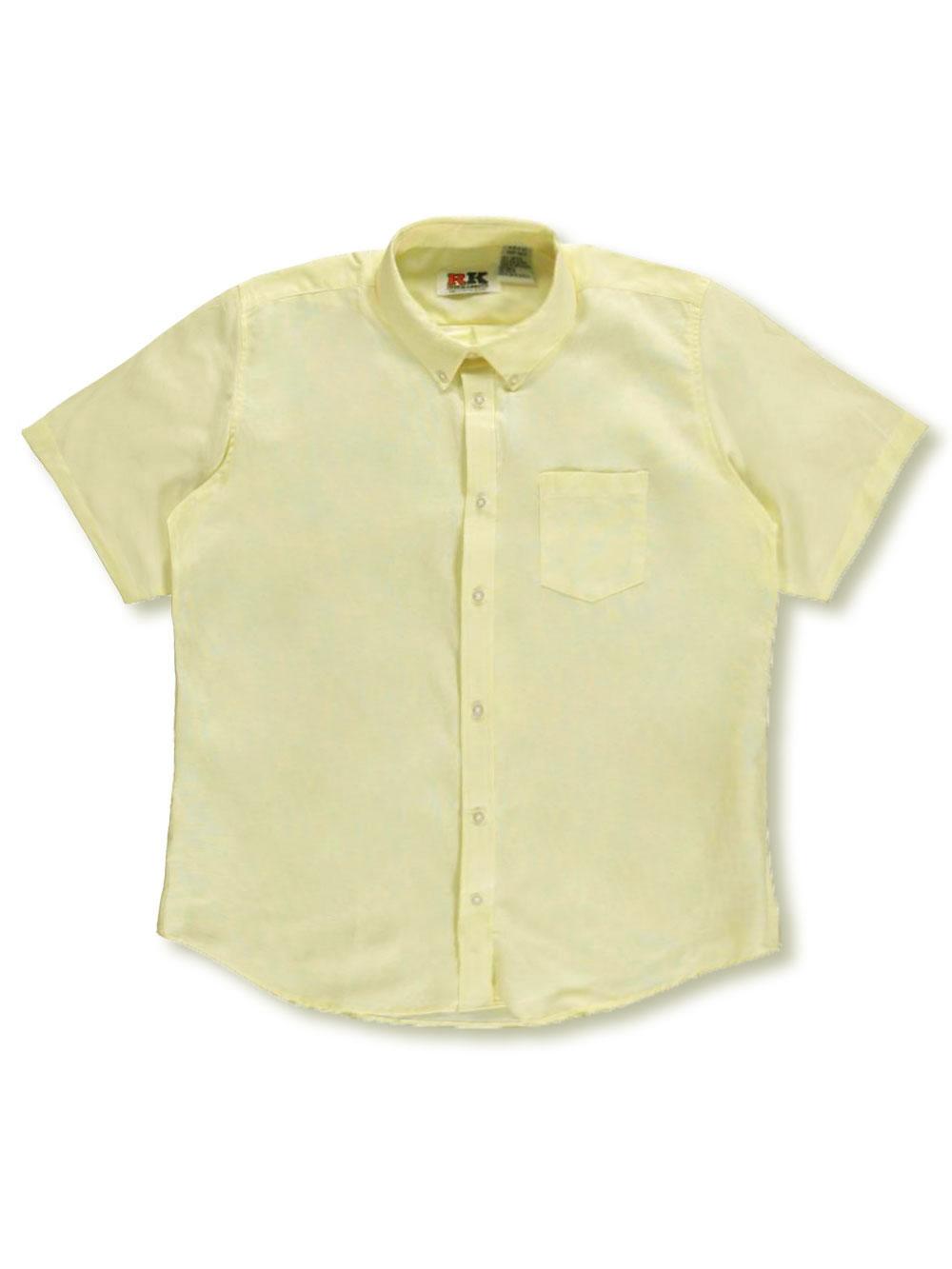 Kaynee Big Boys L//S Button-Down Shirt-white
