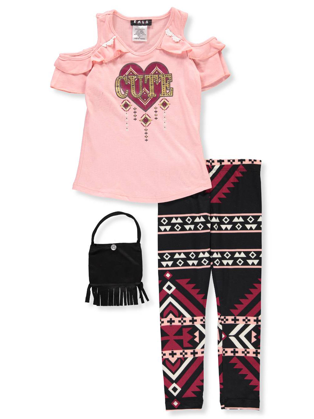RMLA Girls Lace and Stripes 2-Piece Shorts Set Outfit