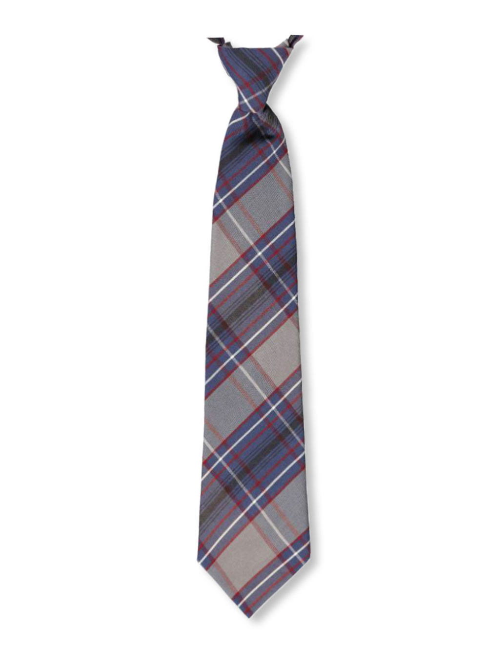 Image of Cookies Brand Adjustable Banded Necktie with Clip  plaid 53 16