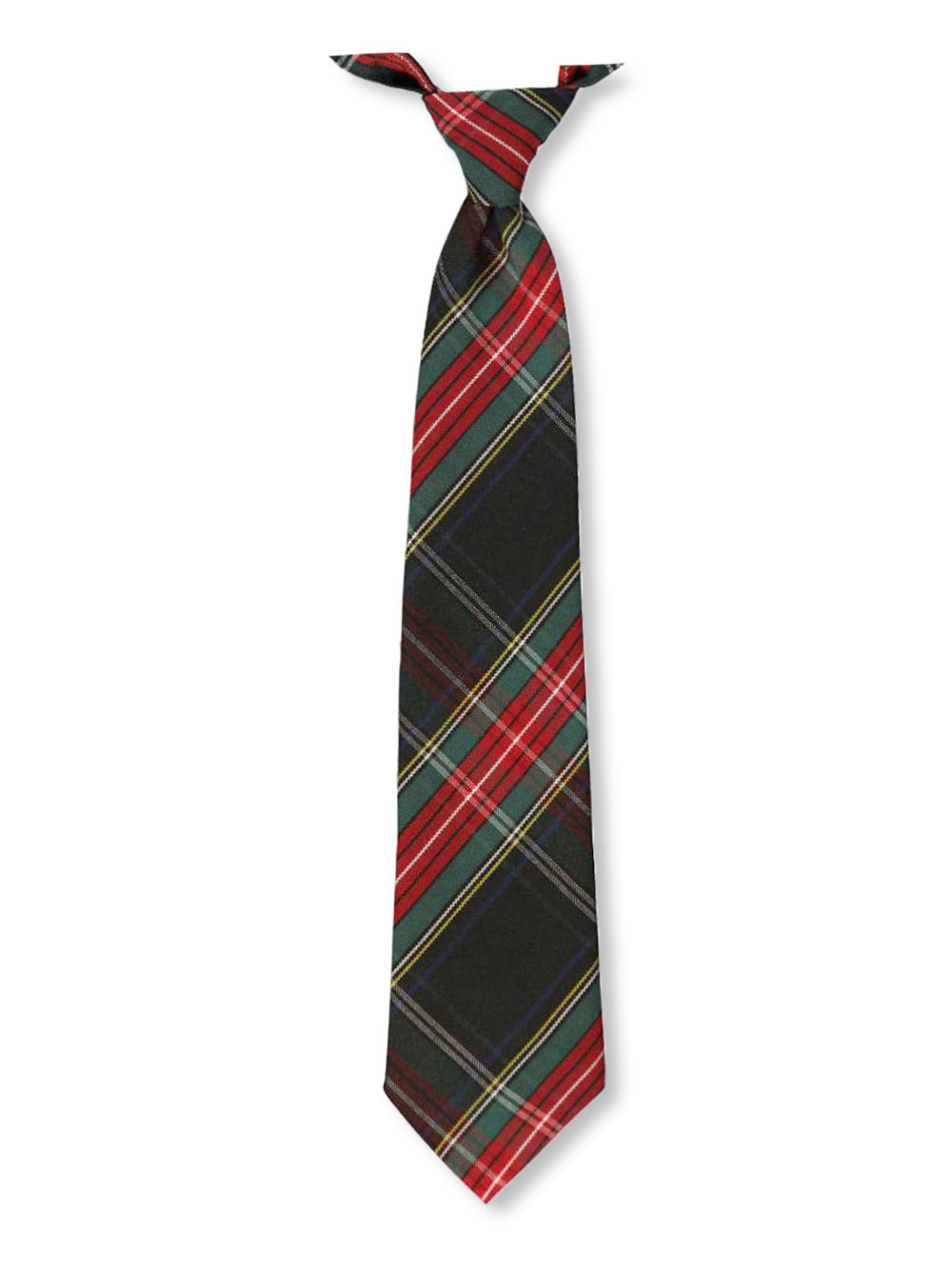 Image of Cookies Brand Adjustable Banded Necktie with Clip  blackredwhitegold plaid 63 12