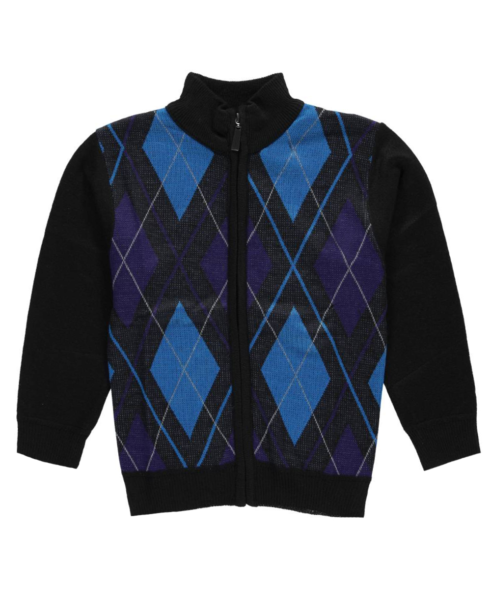Image of American Legend Outfitters Little Boys Argyle Access ZipUp Sweater Sizes 4  7