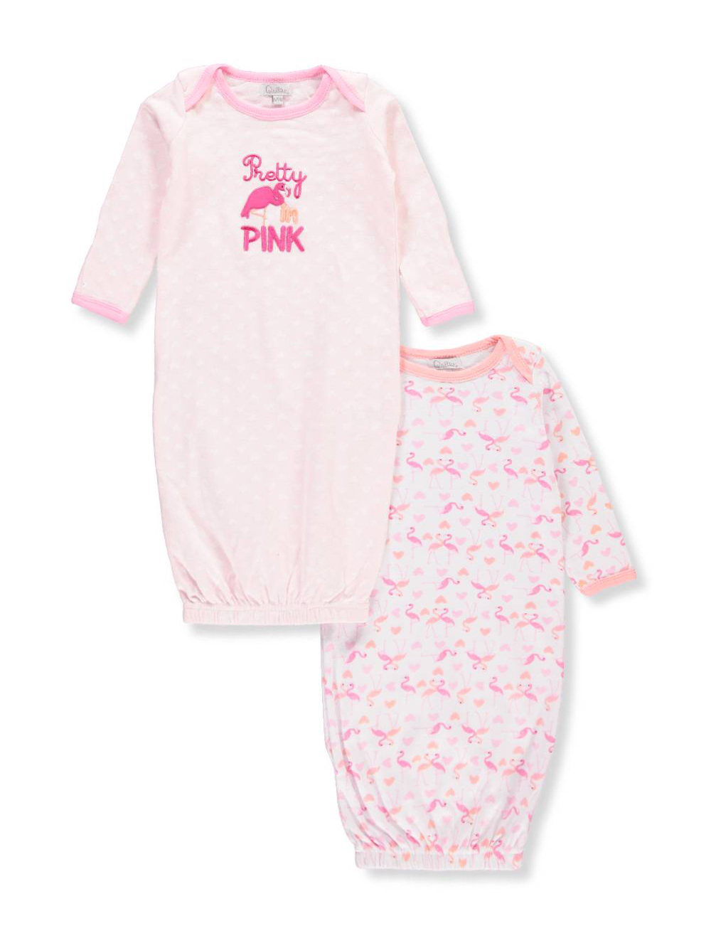 Quiltex Baby Girls\' 2-Pack Sleep Gowns
