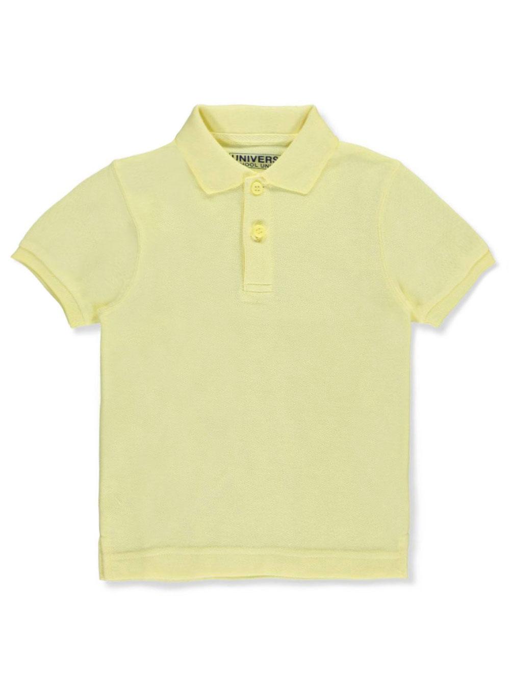 Universal School Uniforms Unisex Boys Girls Short Sleeve Pique Polo Shirt w/Stain Release (2T-20) by Univ- Sku:Staniu838YEL7; Color:YELLOW; Size:7 7